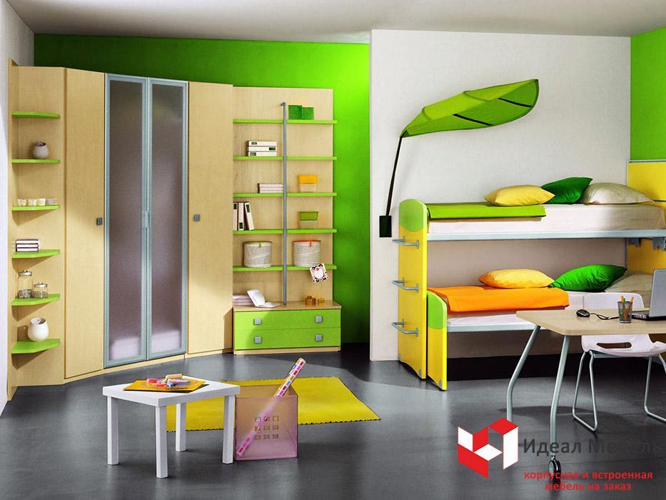 Как подобрать мебель в комнату для двух детей